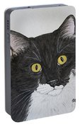 Black And White Cat Portable Battery Charger