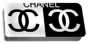 Black And White Chanel Portable Battery Charger