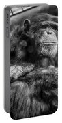 Black And White Chimp Portable Battery Charger