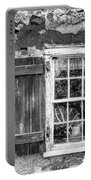 Black And White Cottage Window Portable Battery Charger