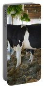Black And White Cow Portable Battery Charger