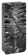 Black And White Fern Portable Battery Charger