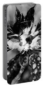 Black And White Flower Portable Battery Charger