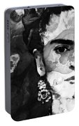 Black And White Frida Kahlo By Sharon Cummings Portable Battery Charger