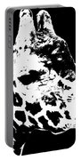 Black And White Giraffe Portable Battery Charger