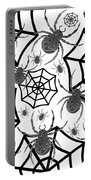 Black And White Halloween Portable Battery Charger