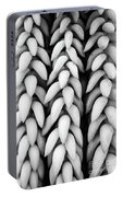 Black And White Hanging Plant Detail. Portable Battery Charger
