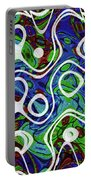 Black And White Lines Overlay Abstract Portable Battery Charger