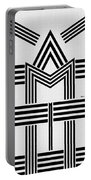 Black And White M Portable Battery Charger