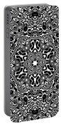 Black And White Mandala 34 Portable Battery Charger by Robert Thalmeier