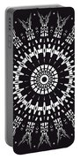Black And White Mandala No. 1 Portable Battery Charger