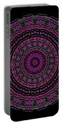 Black And White Mandala No. 3 In Color Portable Battery Charger