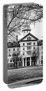 Black And White - Old Main - Widener University Portable Battery Charger