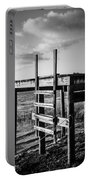 Black And White Old Time Dock Portable Battery Charger