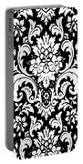 Black And White Paisley Pattern Vintage Portable Battery Charger