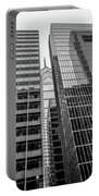 Black And White Philadelphia - Skyscraper Reflections Portable Battery Charger