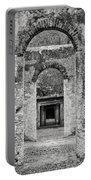 Black And White Photograph Beaufort Historic Church - Chapel Of The Ease Portable Battery Charger