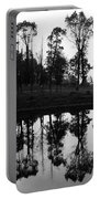 Black And White Reflected Portable Battery Charger