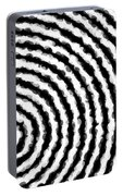 Black And White Spiral Portable Battery Charger