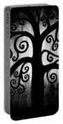 Black And White Tree Portable Battery Charger