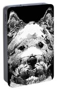 Black And White West Highland Terrier Dog Art Sharon Cummings Portable Battery Charger