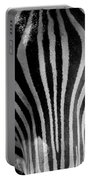 Black And White Zebra  Portable Battery Charger