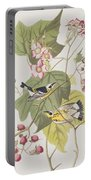Black And Yellow Warblers Portable Battery Charger