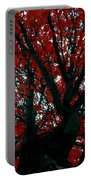 Black Bark Red Tree Portable Battery Charger