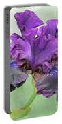 Black Bearded Iris Portable Battery Charger