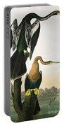 Black Billed Darter Portable Battery Charger by John James Audubon