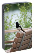 Black-billed Magpie Pica Hudsonia Portable Battery Charger