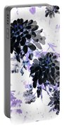 Black Blooms I Portable Battery Charger