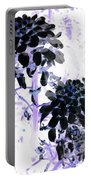 Black Blooms I I Portable Battery Charger