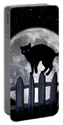 Black Cat And Full Moon 3 Portable Battery Charger
