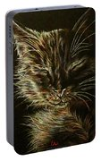Black Cat Drawing Portable Battery Charger