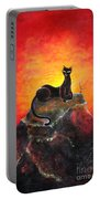 Black Cat. Mistress Of Diamond Mountain Portable Battery Charger