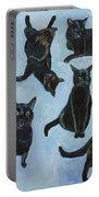 Black Cats Portable Battery Charger