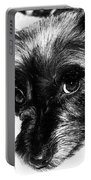 Black Dog Looking At You Portable Battery Charger