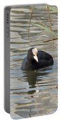 Black Duck On Pond Portable Battery Charger