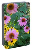 Black Eye Susans And Echinacea Portable Battery Charger