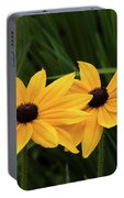 Black-eyed Susan Blossoms Portable Battery Charger