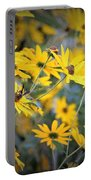 Black-eyed Susan Texturized Portable Battery Charger