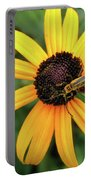 Black-eyed Susan With Soldier Beetle  Portable Battery Charger