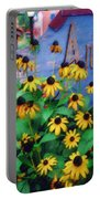 Black-eyed Susans At The Bag Factory Portable Battery Charger