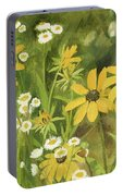 Black-eyed Susans In A Field Portable Battery Charger