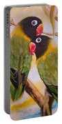 Black Faced Love Birds.  Chloe The Flying Lamb Productions  Portable Battery Charger