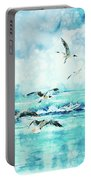 Black-headed Seagulls At Seven Seas Beach  Portable Battery Charger