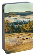 Black Hills Bison Before Sunset Portable Battery Charger