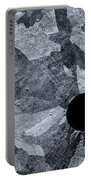 Black Hole - Galvanized Steel - Abstract Portable Battery Charger