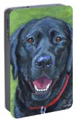 Black Lab On Grass Portable Battery Charger